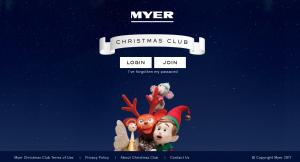 Myer Christmas Club   Bad Landing Page