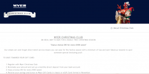 Myer Christmas Club | Bad Landing Page