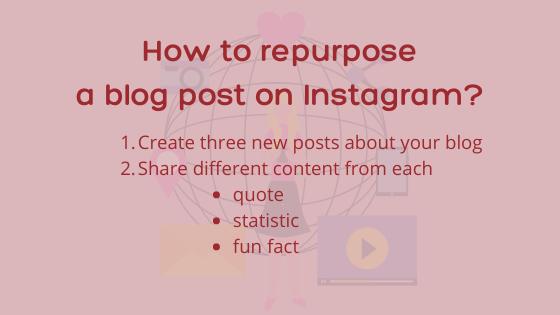 promote your blog on Instagram - Repurpose
