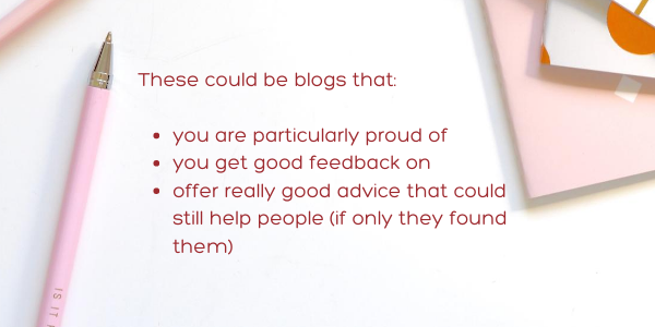 Identify your best blog posts-update old blog posts