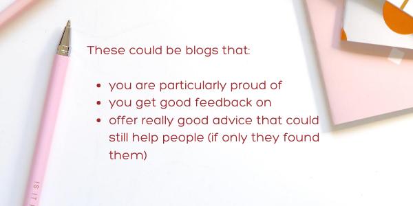 Identify your best blog posts-update old blog posts