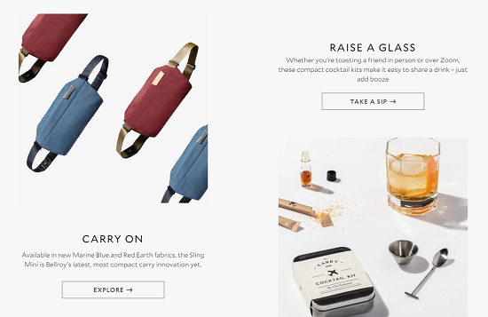 Milligram-website buttons